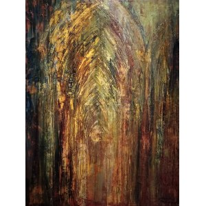 Dawid Masionek (ur. 1994), Wnętrze katedry, 2020