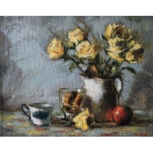 Mateusz Drawa (pseud., ur. 1969), Martwa natura z kwiatami, 2017
