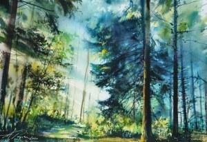Adam Papke, W świerkowym lesie