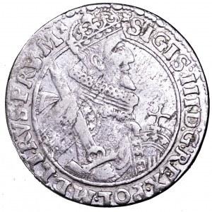 Zygmunt III Waza, ort 1621, Bydgoszcz - błąd PRV/PRS M, rzadsze