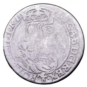 Jan II Kazimierz, szóstak 1661 NG, Poznań - obwódki, rzadki