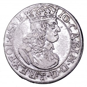Jan II Kazimierz, szóstak 1660 TLB - śliczny, rzadszy