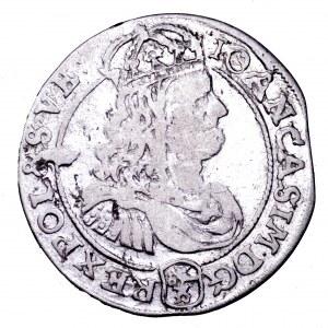 Jan II Kazimierz, szóstak 1667 TLB