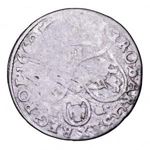 Jan II Kazimierz, szóstak 1662 NG, Poznań - obwódka na awersie, rzadki