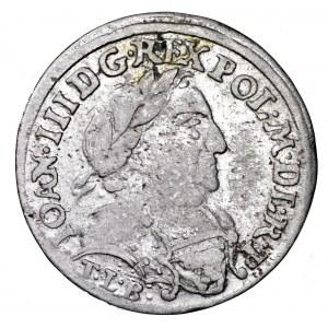 Jan III Sobieski, szóstak 1681, Bydgoszcz - C między tarczami