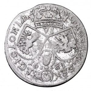 Jan III Sobieski, szóstak 1681, Bydgoszcz - litera C między tarczami