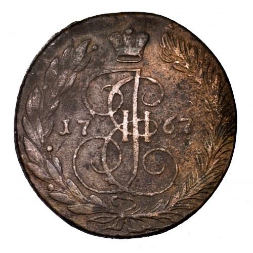 Rosja, Katarzyna II, 5 kopiejek 1767 EM