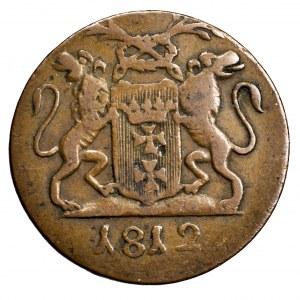 Wolne Miasto Gdańsk, grosz 1812 M - ładny, szufladowy