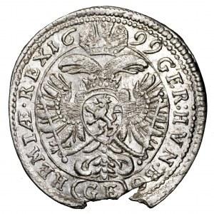 Austria, Leopold I, 3 krajcary 1699 GE, Praga