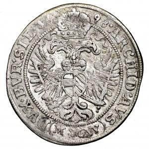 Śląsk, Leopold I, 3 krajcary 1698 MMW, Wrocław