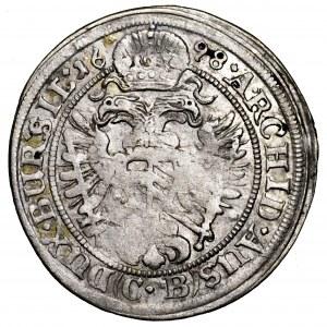 Śląsk, Leopold I, 3 krajcary 1698 CB, Brzeg