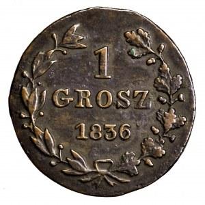 Królestwo Polskie, grosz 1836 - ładny, rzadszy