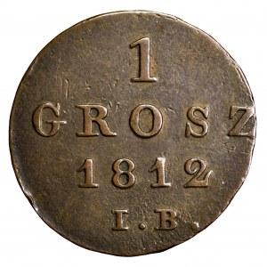 Księstwo Warszawskie, grosz 1812 IB - ładny