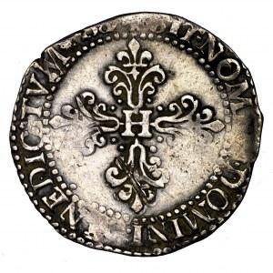 Henryk Walezy, 1/2 franka 1587 A