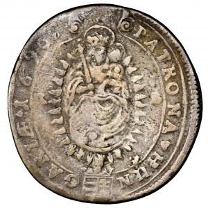 Węgry, Leopold I, 15 krajcarów 1696 NB, Nagybanya