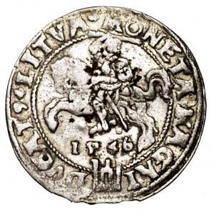Zygmunt II August, grosz na stopę litewską 1546, Wilno - rzadszy, L/LITVA