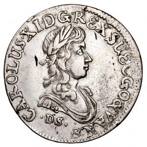 Pomorze, Karol XI, 1/2 guldena (1/3 talara) 1674, Szczecin - rzadkie