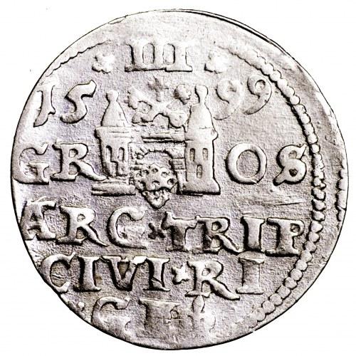 Zygmunt III Waza, trojak 1599, Ryga