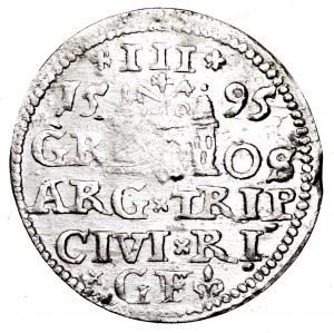 Zygmunt III Waza, trojak 1595, Ryga