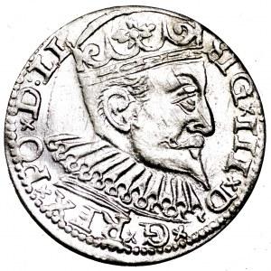 Zygmunt III Waza, trojak 1597, Ryga - bardzo ładny