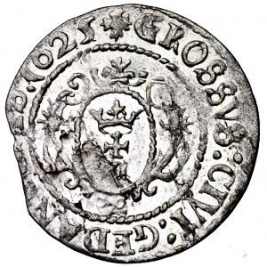 Zygmunt III Waza, grosz 1625, Gdańsk - ładny