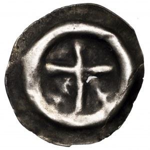 Zakon Krzyżacki, brakteat krzyż łaciński - cienki