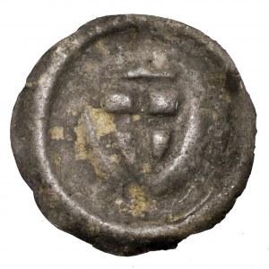 Zakon Krzyżacki, brakteat tarcza zakonna - dwie kule nad tarczą