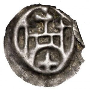 Zakon Krzyżacki, brakteat brama - II emisji, przejściowa, krzyż