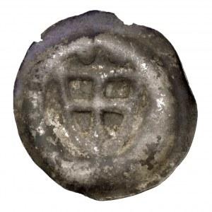 Zakon Krzyżacki, brakteat tarcza zakonna - dwie kule