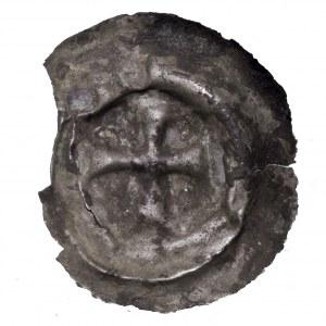Zakon Krzyżacki, brakteat krzyż prosty, XIII w.