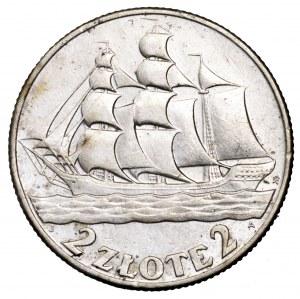 II Rzeczpospolita, 2 złote 1936, Żaglowiec