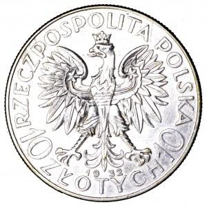 II Rzeczpospolita, 10 złotych 1932, Polonia, Warszawa