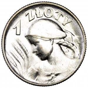 II Rzeczpospolita, 1 złoty 1925, Żniwiarka, Londyn