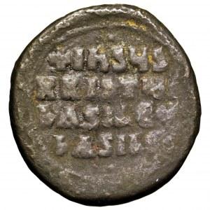 Bizancjum, Bazyli II, follis 976-1025