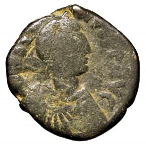 Bizancjum, Justyn, follis 518-527, Konstantynopol