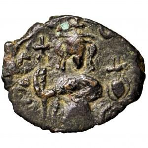 Bizancjum, Konstantyn II, follis 641-648, Konstantynopol