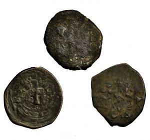 Bizancjum, zestaw 3 follisów