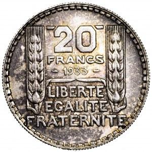 Francja, 20 franków 1933