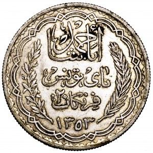 Tunezja, Ahmad II, 20 franków 1935