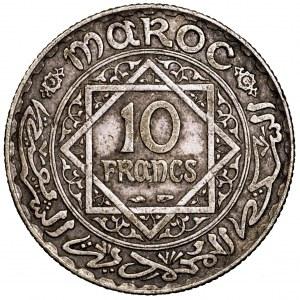 Maroko, 10 franków 1934