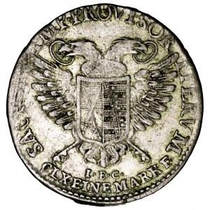 Niemcy, Saksonia, Fryderyk August III, 2 grosze (1/12 talara) 1792 IEC, Drezno
