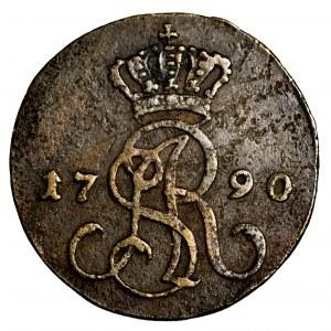 Stanisław Poniatowski, grosz 1790 EB - ładny