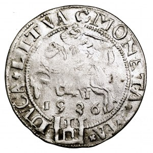 Zygmunt I Stary, grosz 1536, Wilno - styczeń, litera I