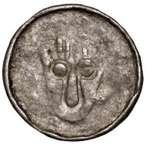 Władysław Herman, denar krzyżowy 1081-1102, Wrocław - głowa św. Jana