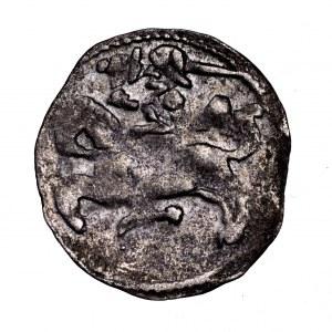 Aleksander Jagiellończyk, denar litewski, Wilno - renesansowe A, ładny