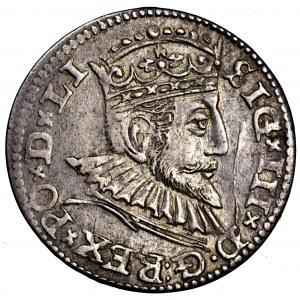Zygmunt III Waza, trojak 1592, Ryga - ładny