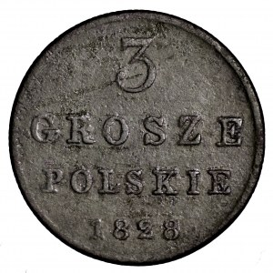 Królestwo Polskie, 3 grosze 1828 FH