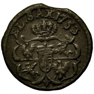 August III Sas, szeląg 1753 V