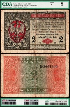 Królestwo Polskie, 2 marki polskie 9.12.1916/17 ,,Generał