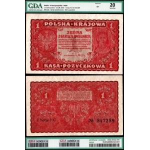 II Rzeczpospolita, 1 marka polska 23.08.1919 - GDA VF20